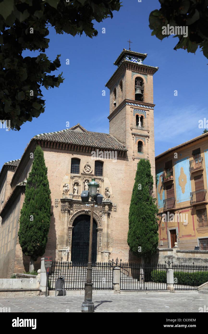 Iglesia de santa ana y san gil at granada in spain stock - Santa ana granada ...