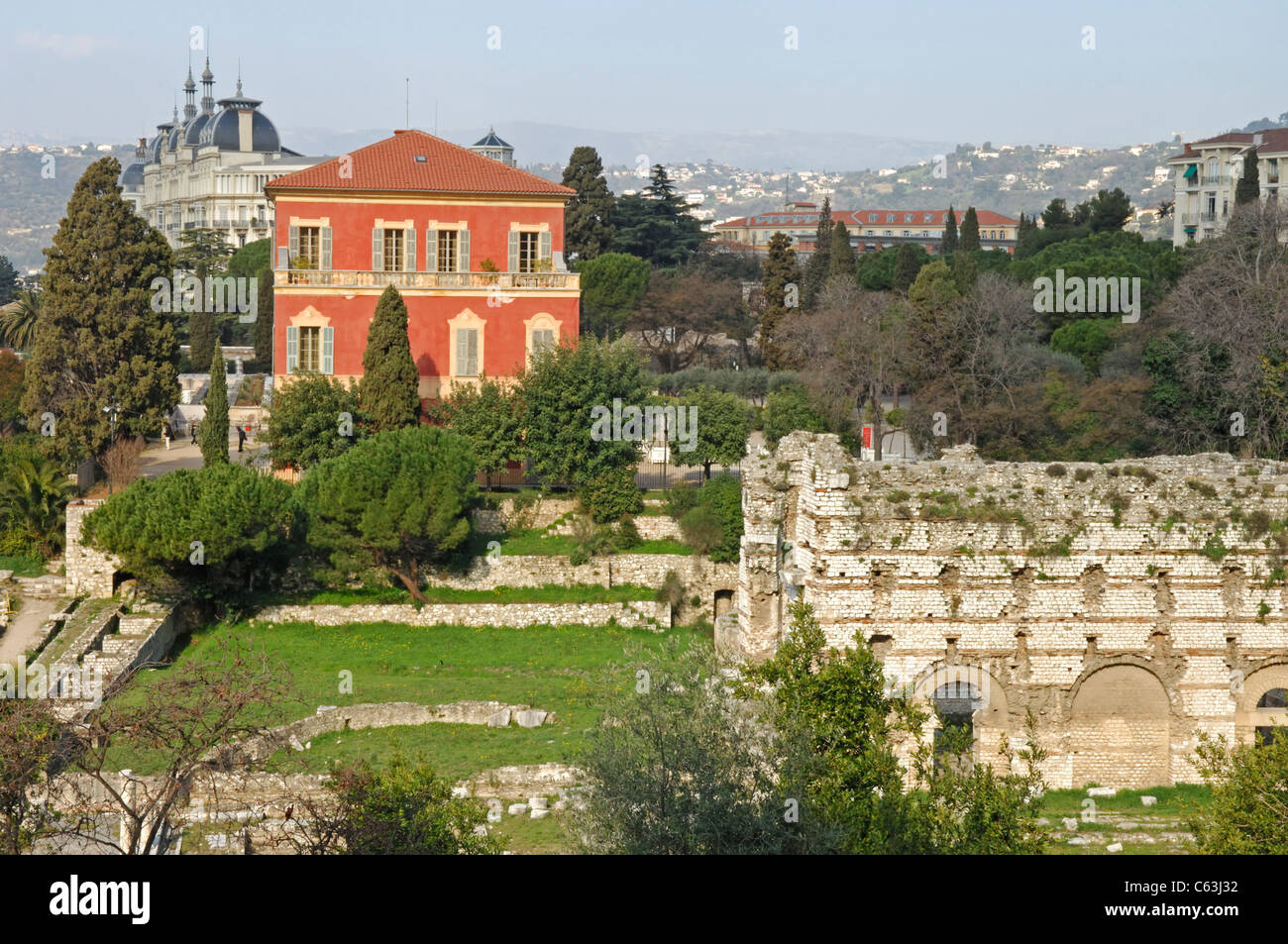 roman ruins and henri matisse museum in nice in the alpes. Black Bedroom Furniture Sets. Home Design Ideas
