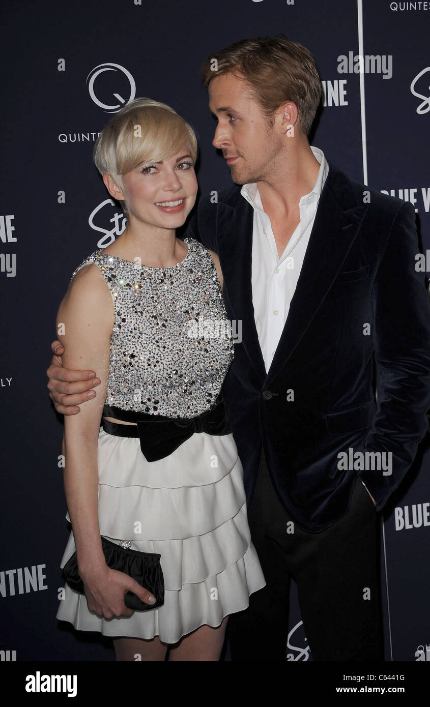 Schön Michelle Williams, Ryan Gosling At Arrivals For BLUE VALENTINE Premiere,  MoMA Museum Of Modern Art, New York, NY December 7, 2010.