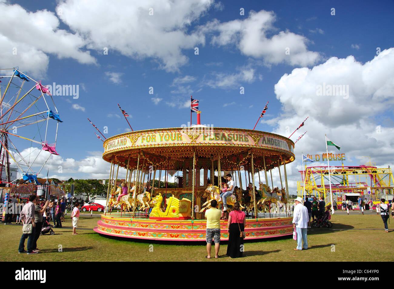 Paignton United Kingdom  city photos gallery : Carousel At Paignton Regatta Fair, Paignton, Tor Bay, Devon, England ...