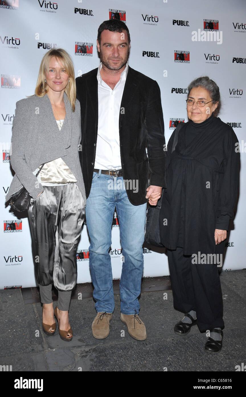 Naomi Watts, Liev Schreiber, Liev's Mother in attendance ...