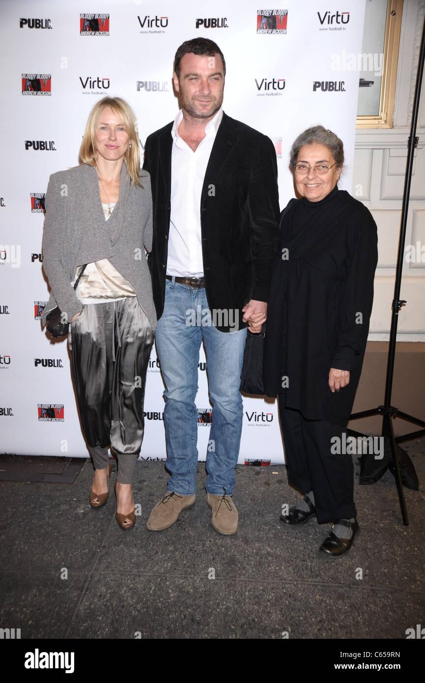 Naomi Watts, Liev Schreiber, Heather Milgram (Liev's ...