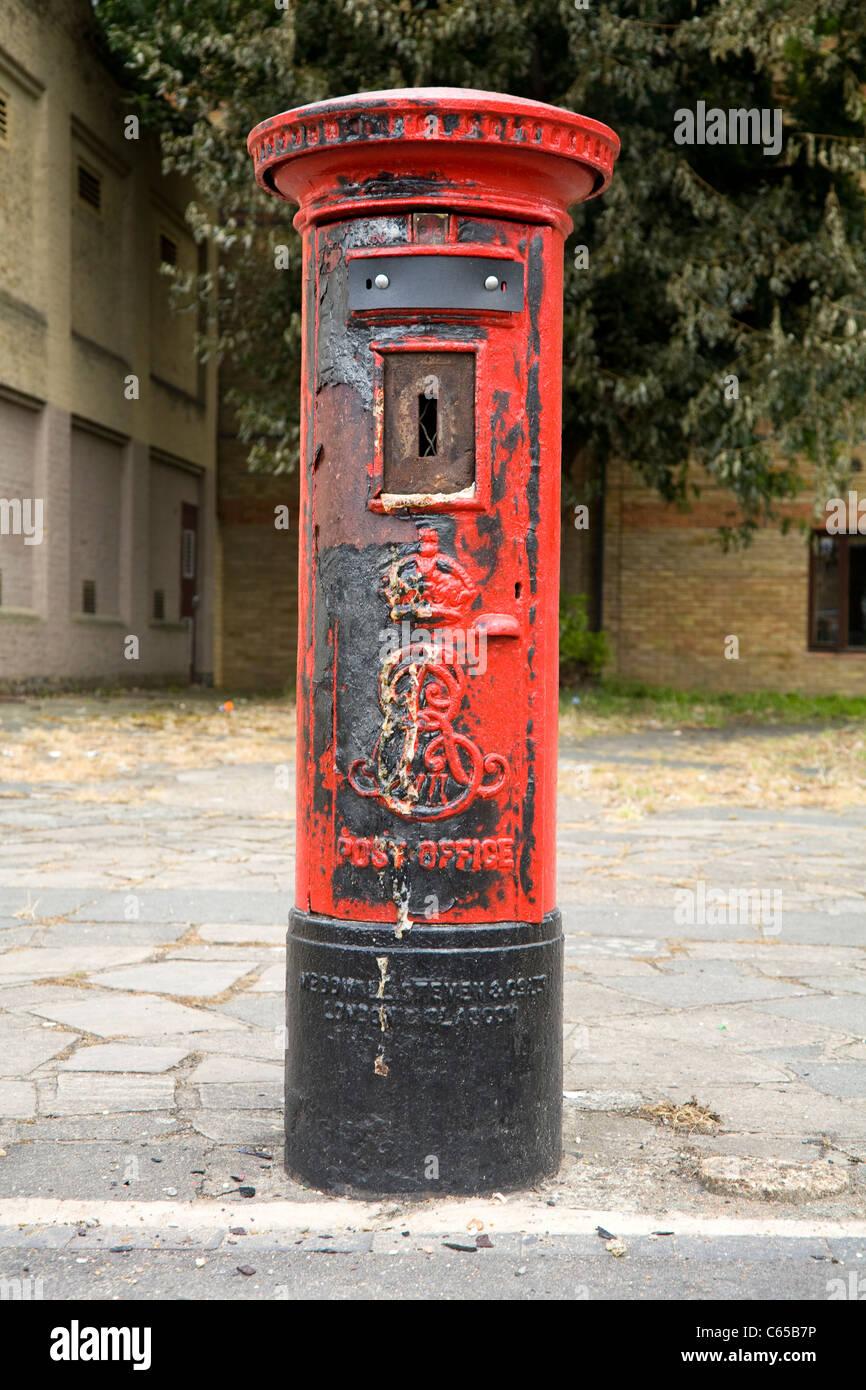 Vandalised Type B Pillar Box Post Letter Box Set