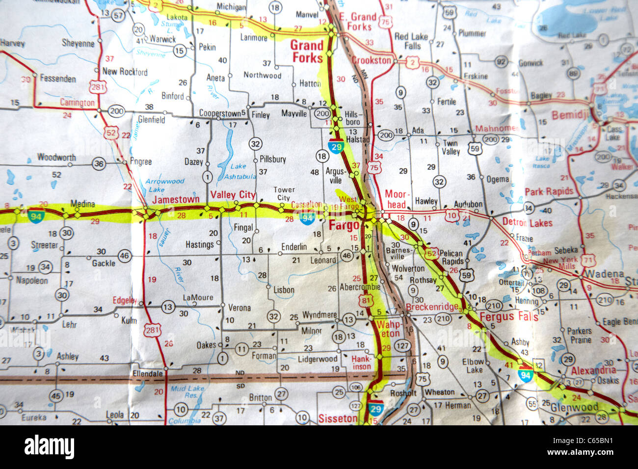 Road Map Of The Usa With Routes Planned Out In Highlighter Through – Road Map Nd