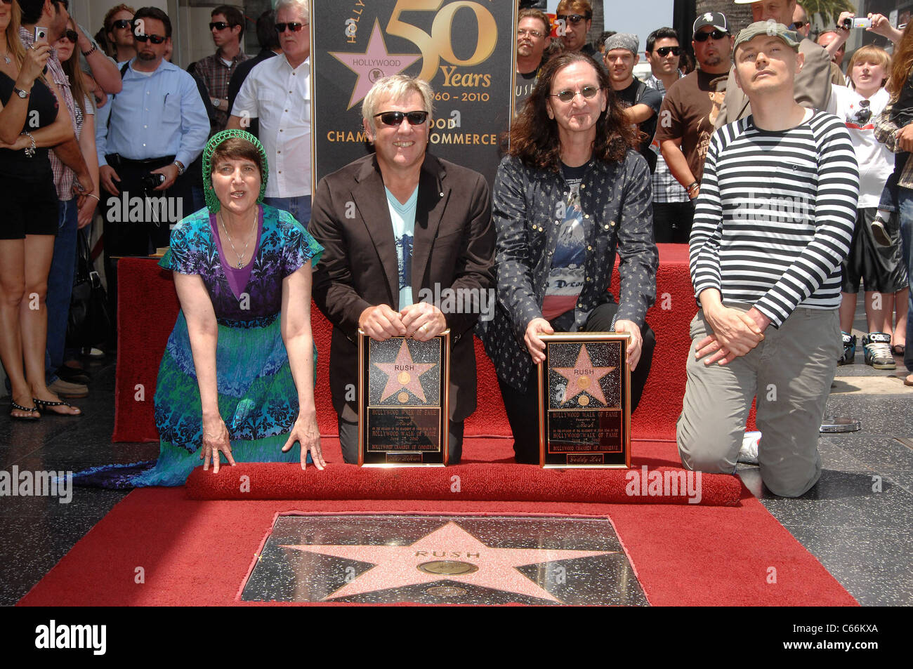 Donna Halper, Alex Lifeson, Geddy Lee, Billy Corgan at the ...