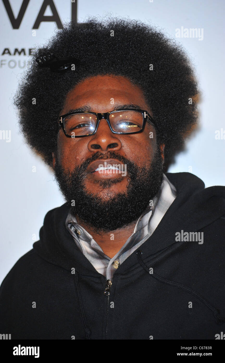 questlove at arrivals for 2011 tribeca film festival opening night