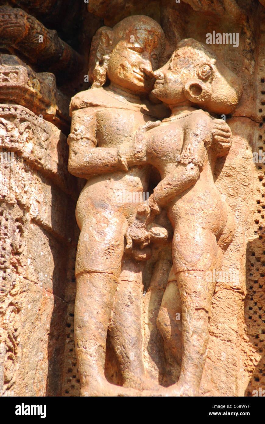Erotic Sculpture, Konark Sun Temple, Orissa India. UNESCO world ...