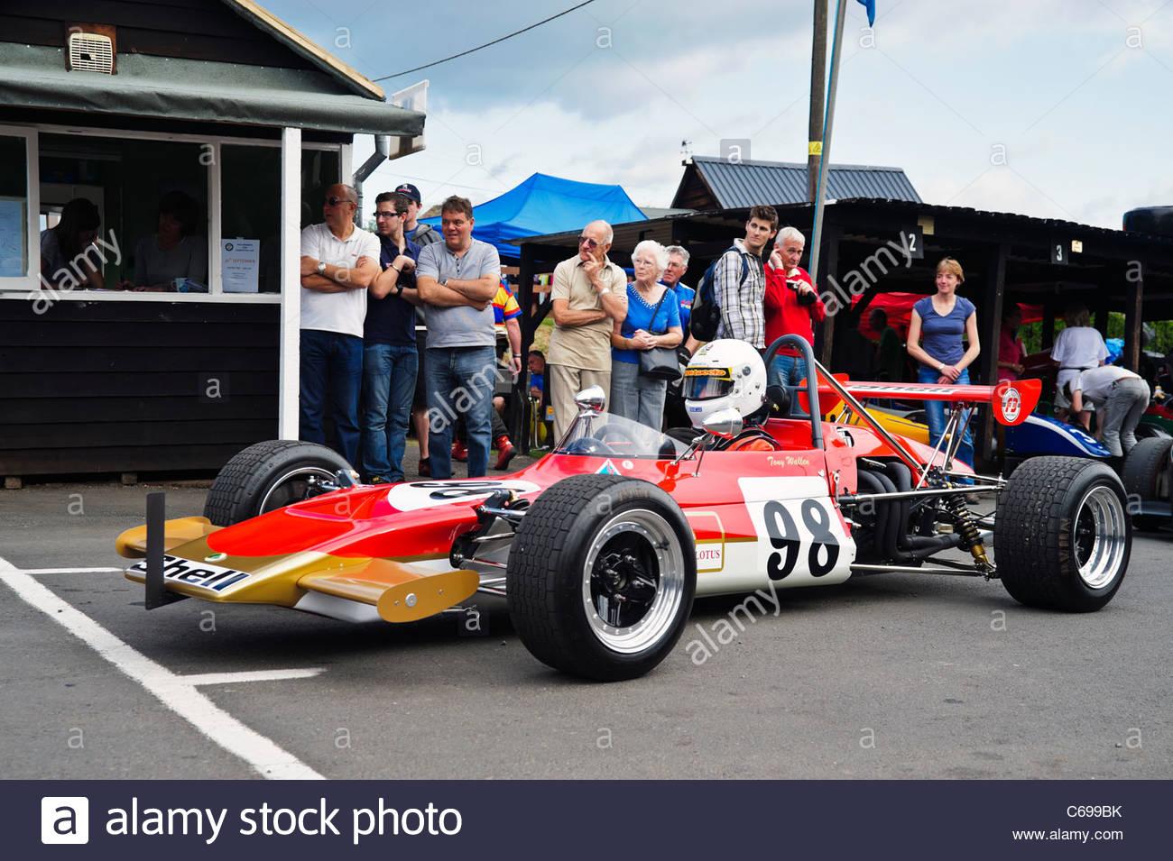 Tony Wallen Lotus 69 F3 single seat racing car at Shelsley Walsh ...