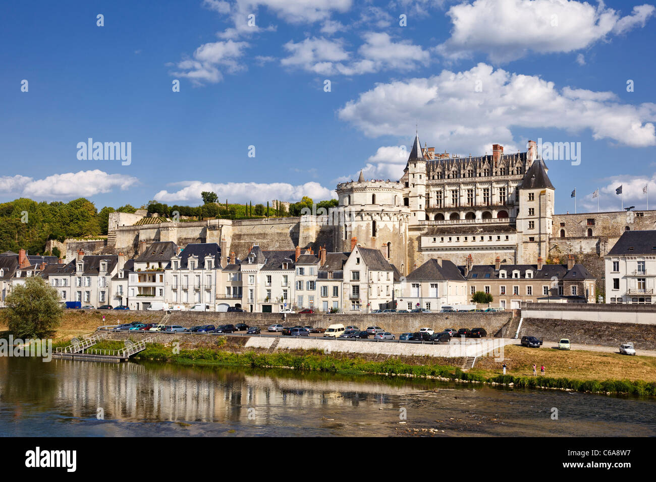 Amboise Chateau And River Loire Indre Et Loire France