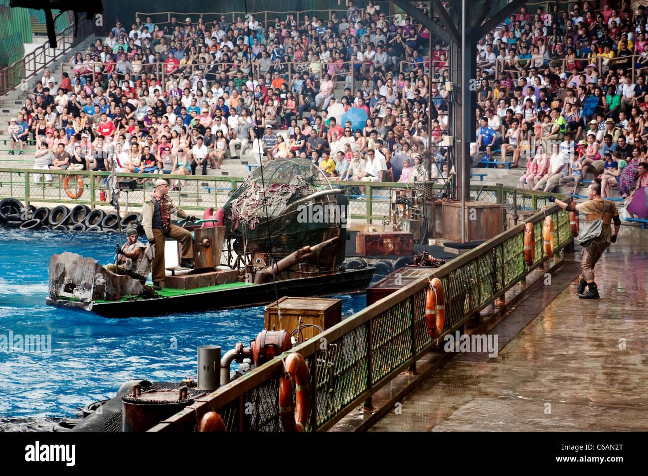 "The ""Waterworld"" movie attraction at Universal Studios ..."