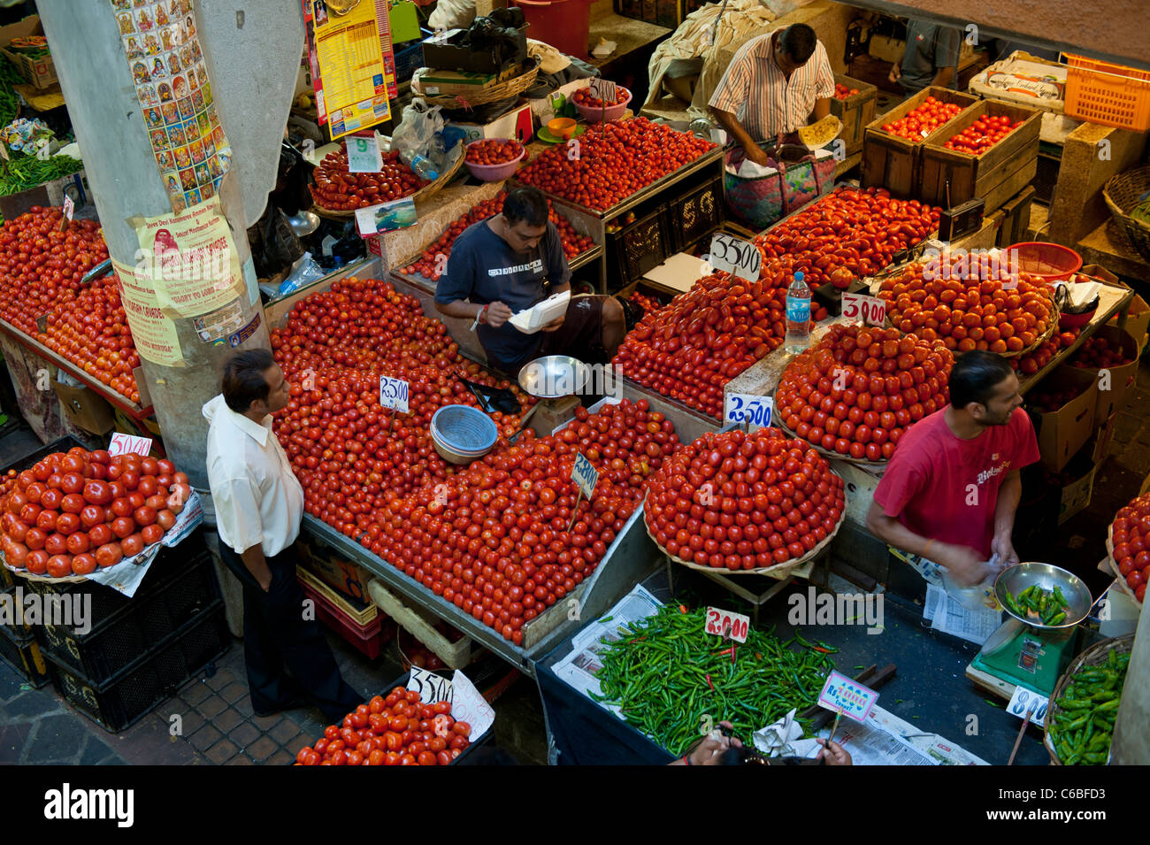 Tomato market stall in central market port louis mauritius stock photo royalty free image - Mauritius market port louis ...