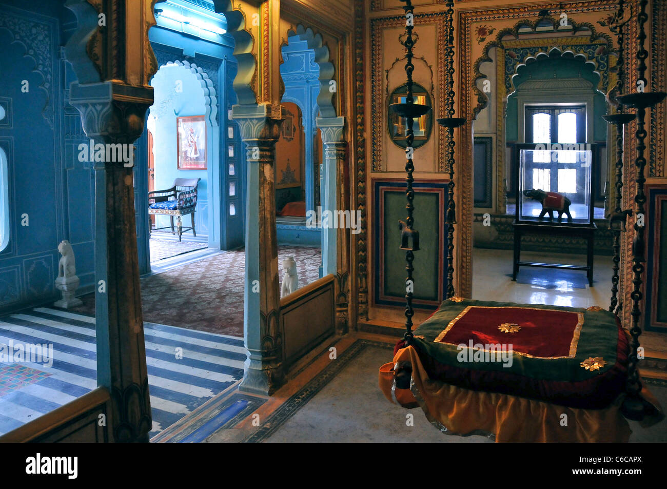 Interior Room Inside City Palace Udaipur Rajasthan India