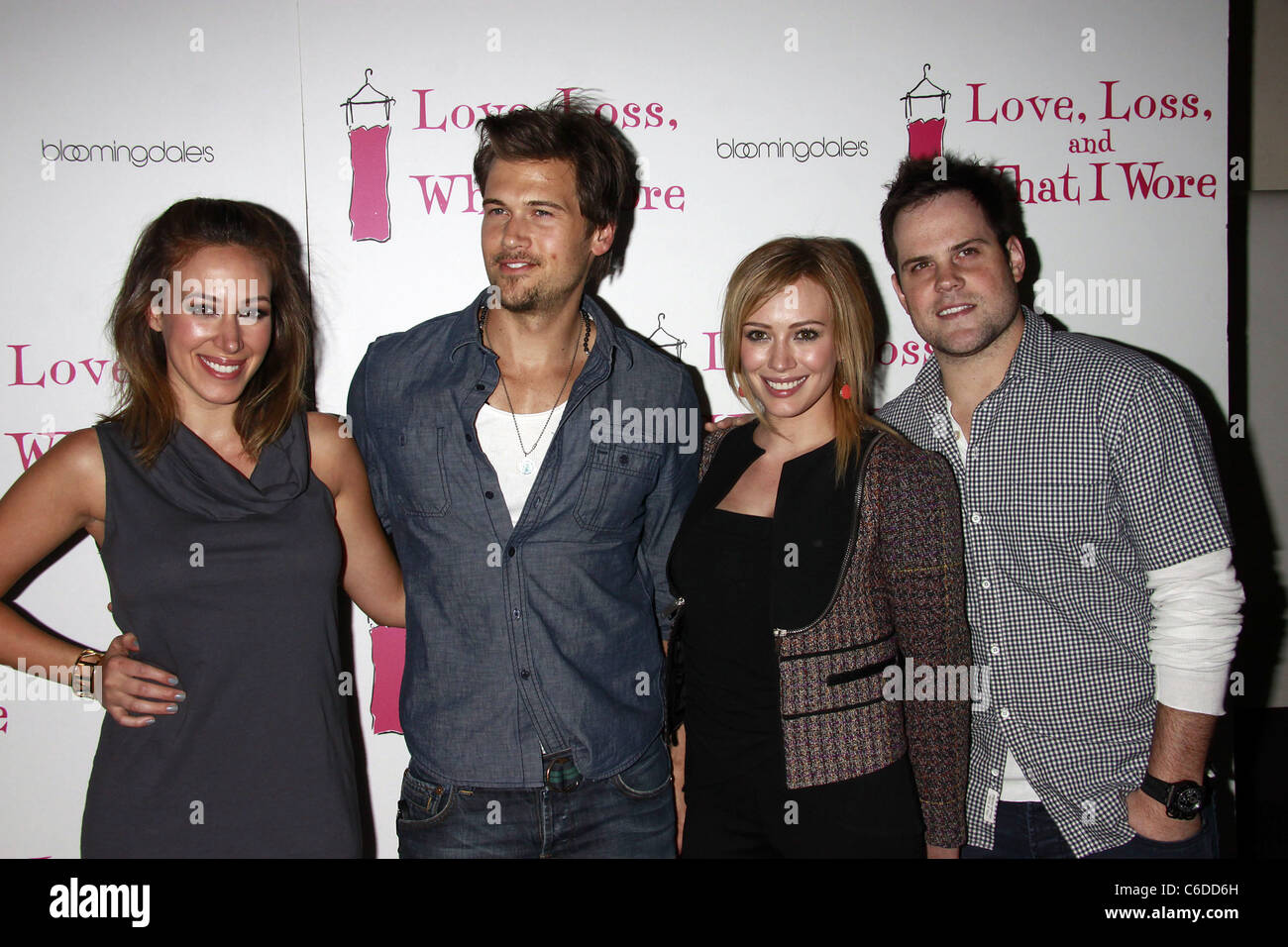 Haylie Duff, Nick Zano, Hilary Duff, and Mike Comrie Party ...