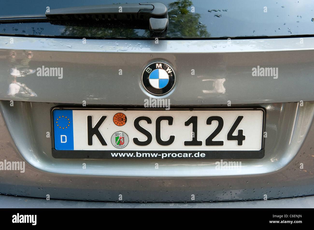 German Car Registration License Plate Cologne Koln Germany Europe