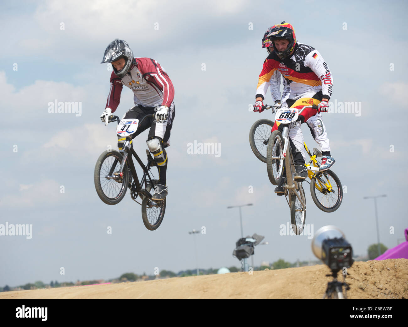 BMX Supercross World Cup Olympic Test Event Park Stratford London England