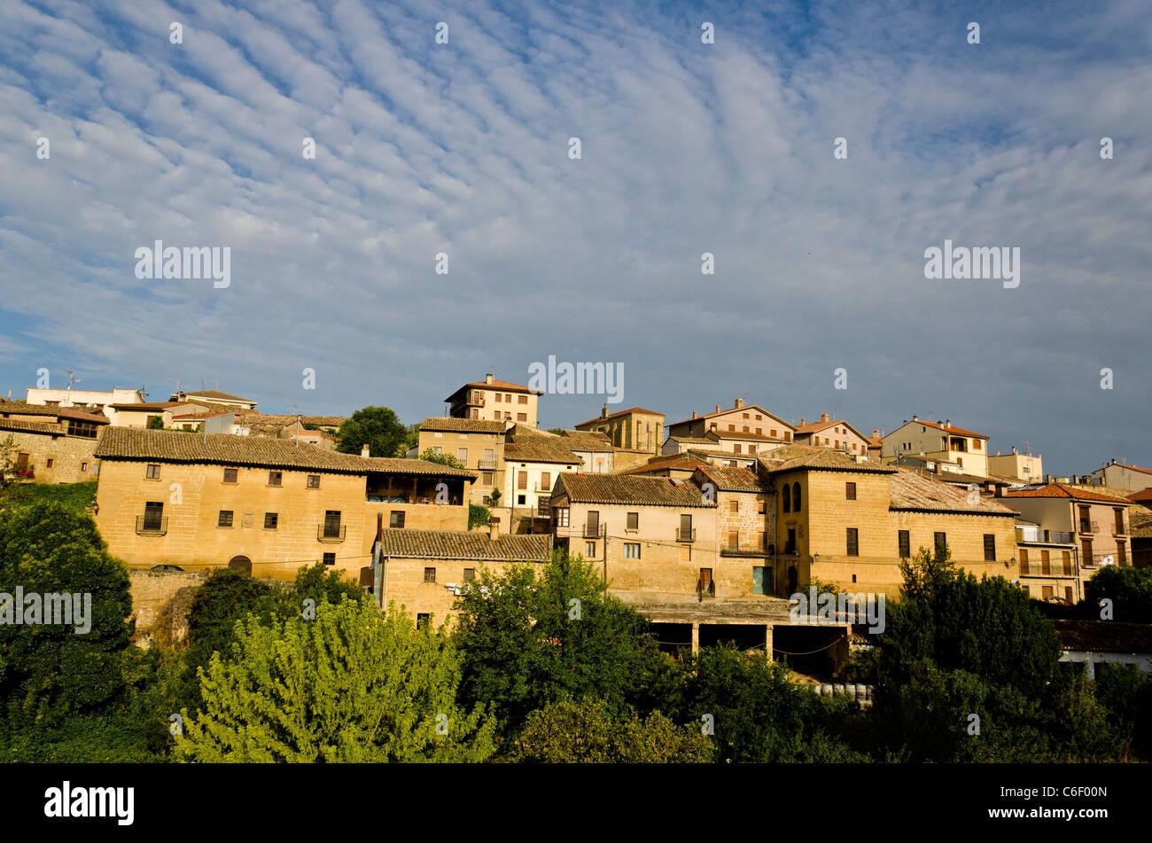Villabuena de alava at dawn la rioja spain stock photo for Villabuena de alava