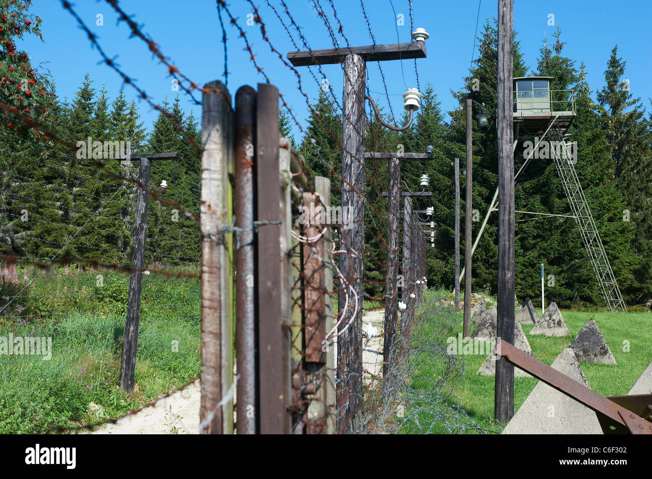 Iron curtain - Bucina Buchwald Czech Republic Germany Border Iron Curtain From Cold War Era Sumava Bayerischer Wald