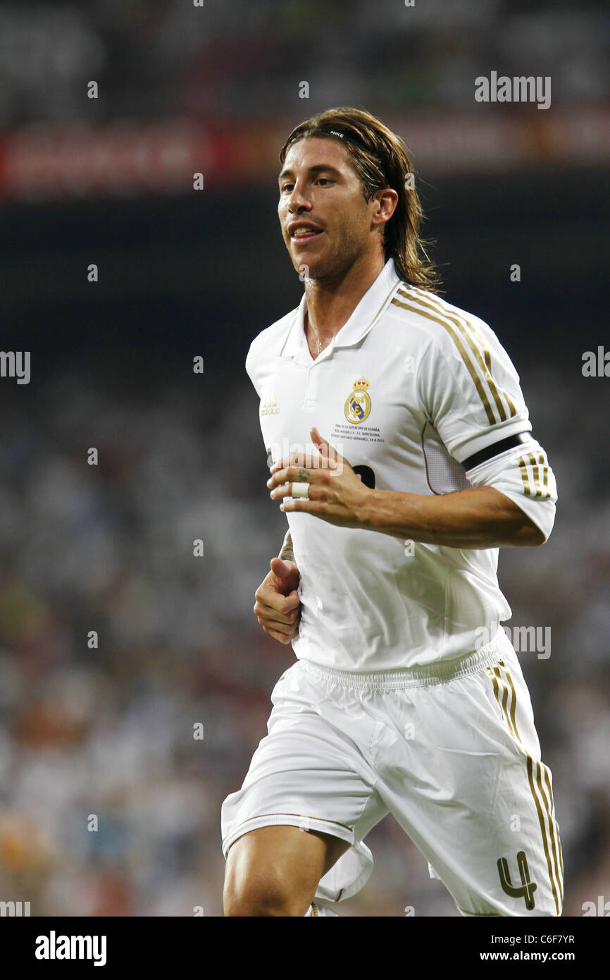 """Sergio Ramos Real playing for the panish """"Super Cup"""" match"""