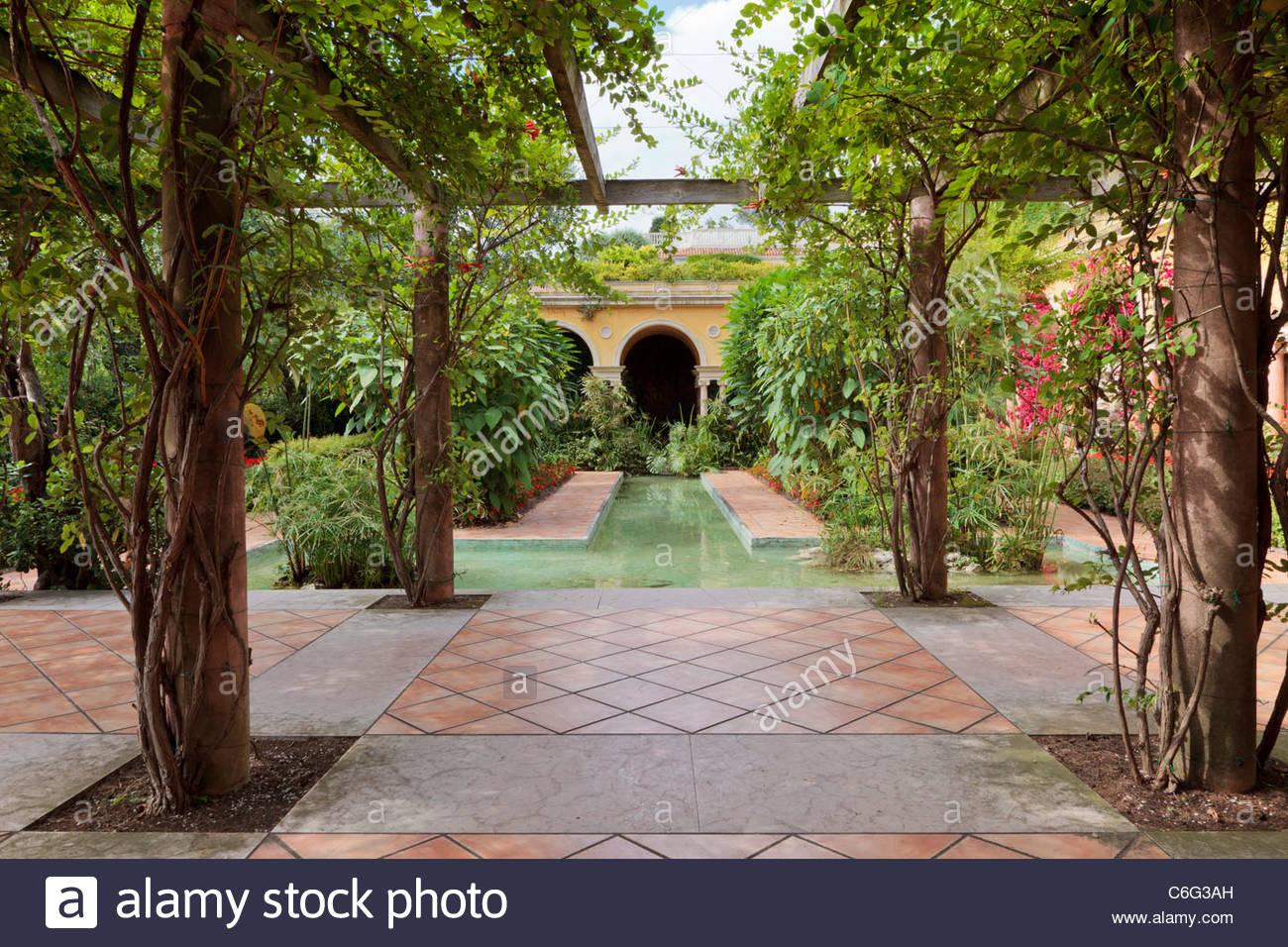 The Spanish Garden, Villa Ephrussi De Rothschild, Saint Jean Cap Ferrat,  France