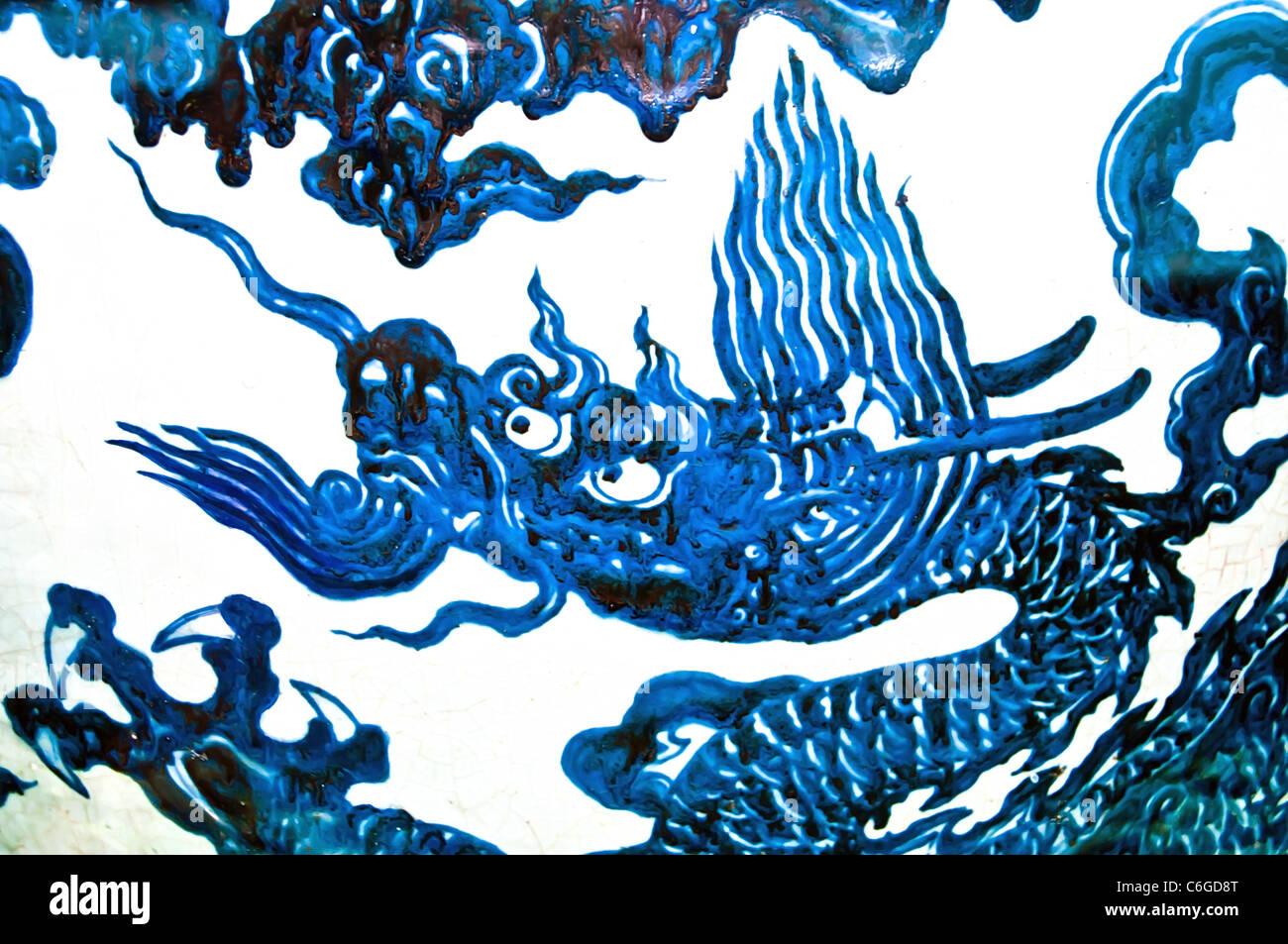 Ming vase stock photos ming vase stock images alamy blue chinese dragon on white background decoration of a ming vase stock image reviewsmspy