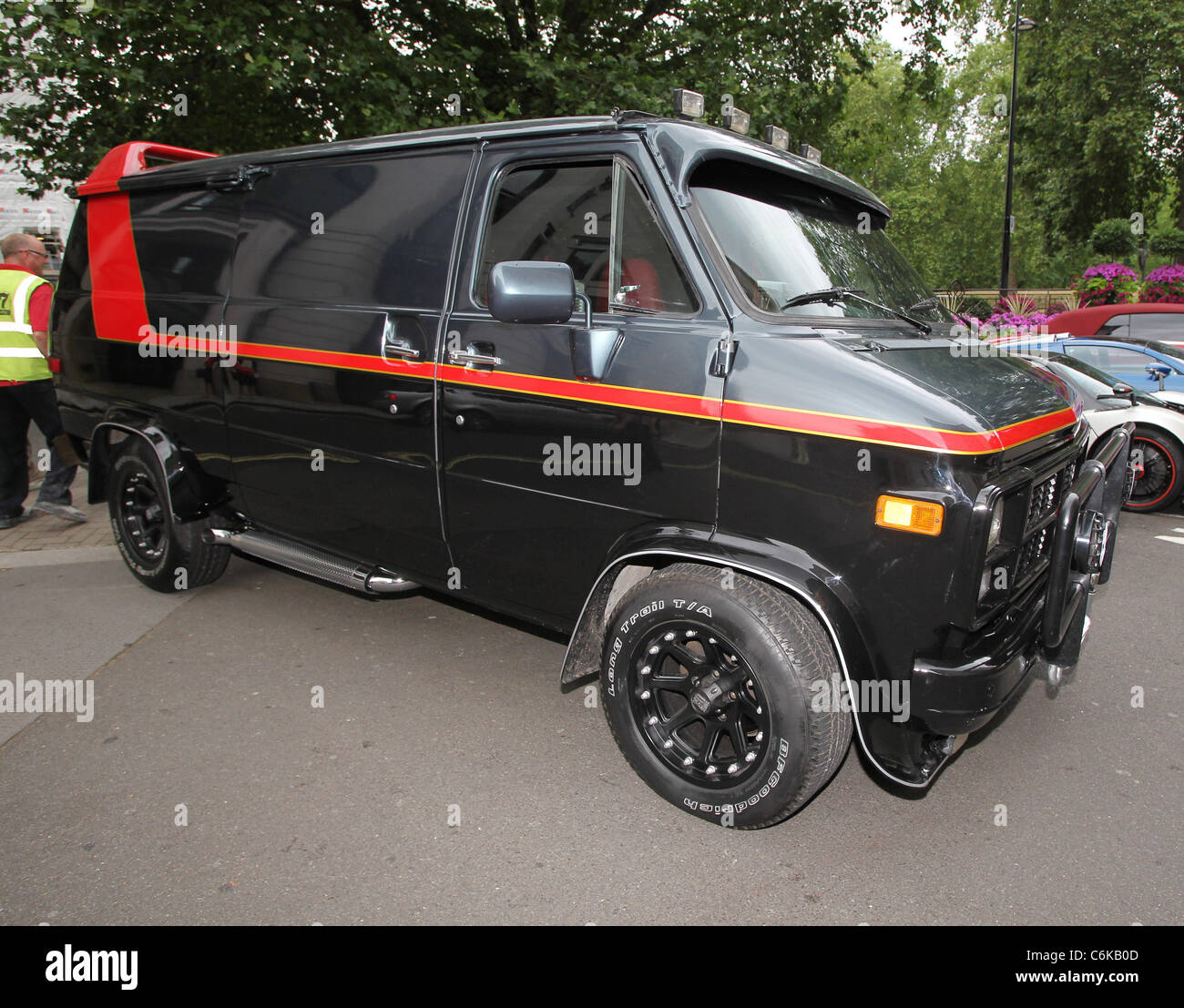 a replica of the a team van signed by the original 39 face 39 dirk stock photo royalty free image. Black Bedroom Furniture Sets. Home Design Ideas