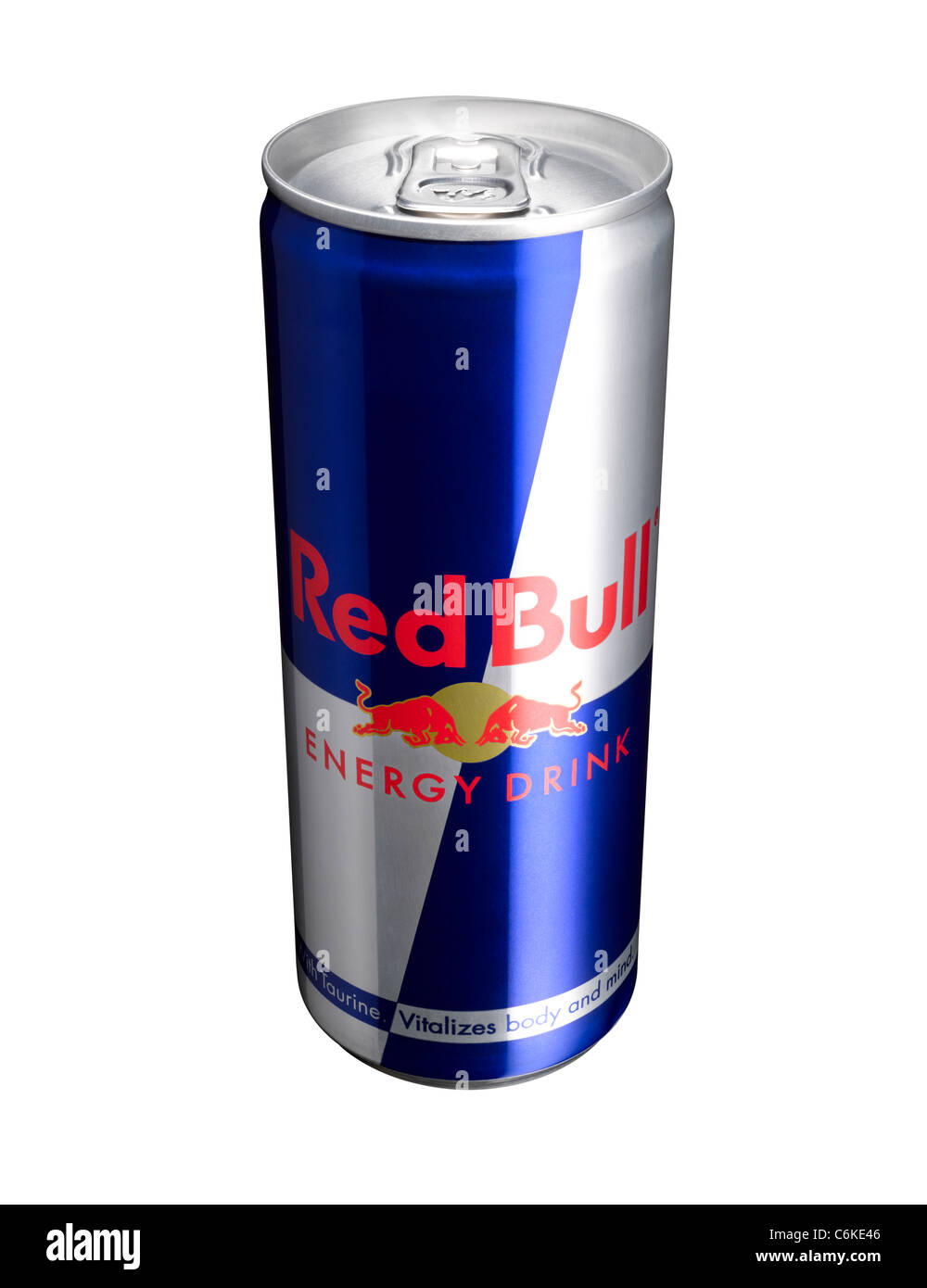 a cut out of a can of red bull energy drink stock photo