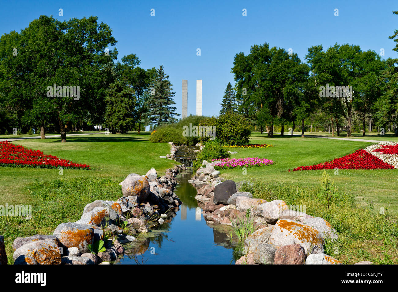 The International Peace Gardens Park Near Bottineau North Dakota And Stock Photo Royalty Free