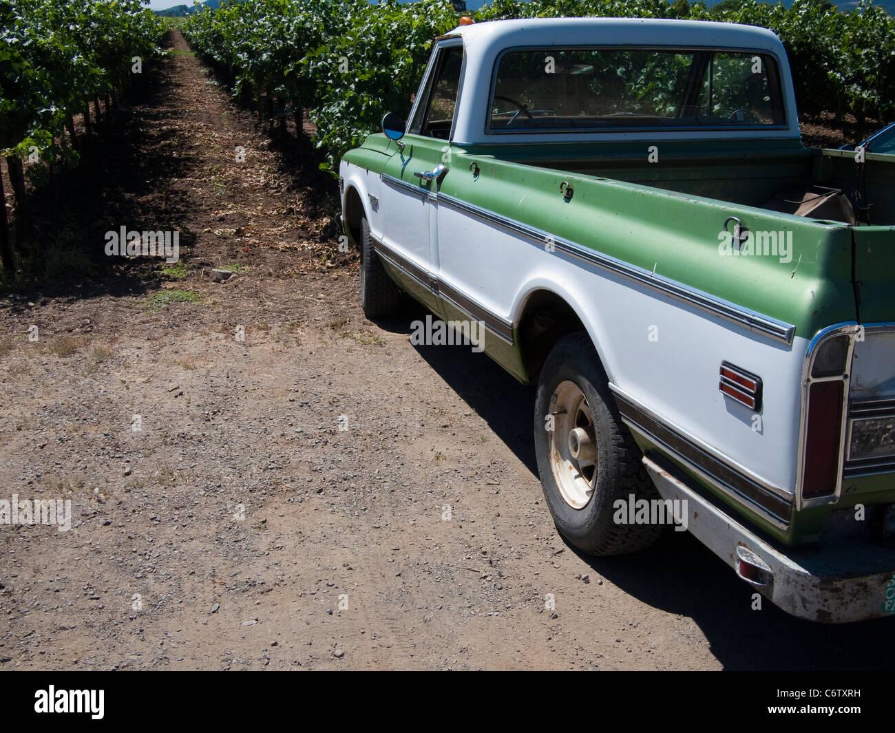 Old Chevy Pickup, Napa Valley, California Stock Photo, Royalty Free ...