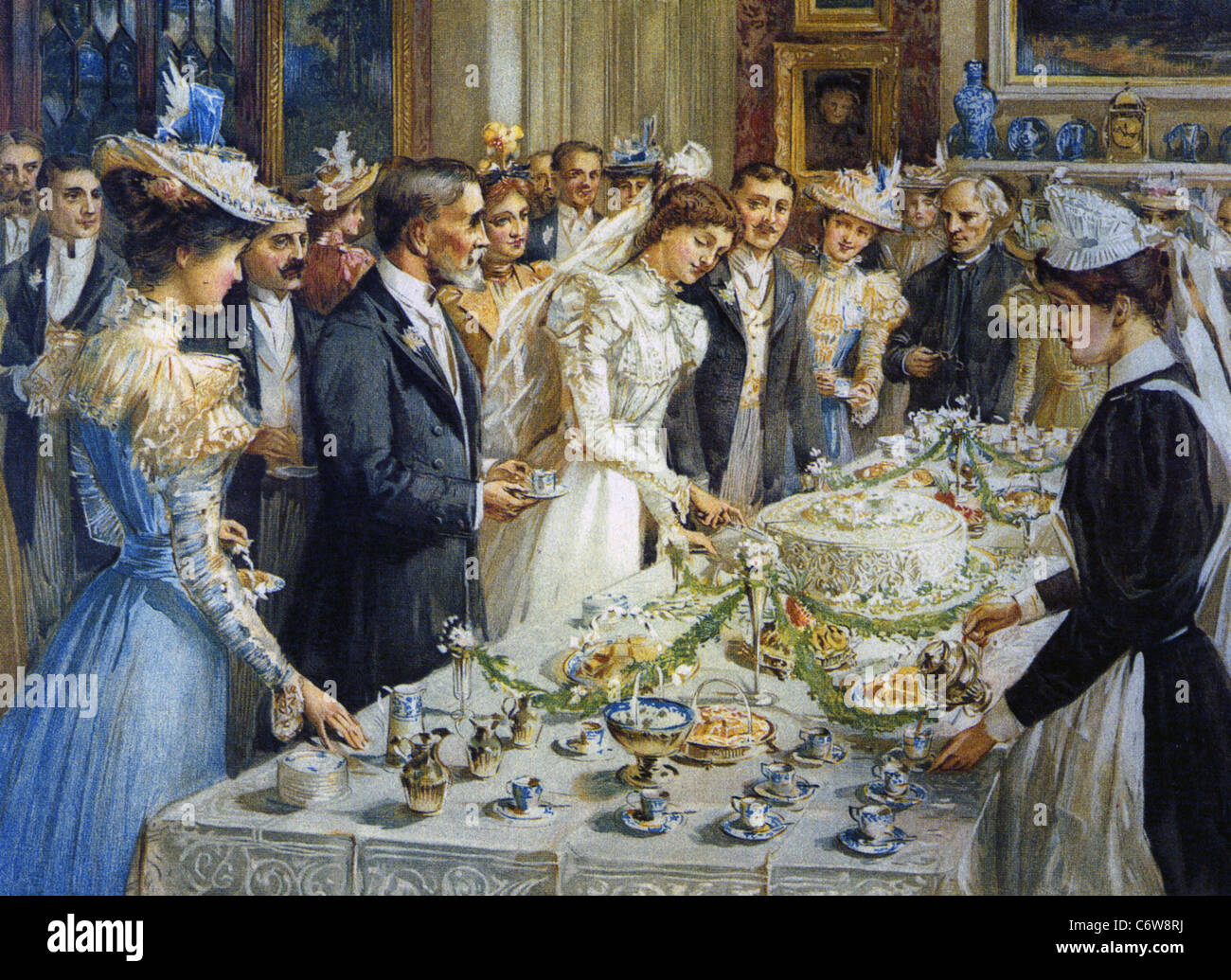Victorian wedding reception about 1890 stock photo royalty free victorian wedding reception about 1890 junglespirit Images