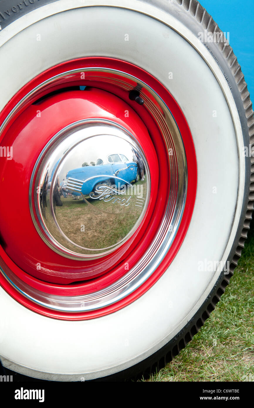 classics on the common harpenden ford white wall tyre red rim wheel classic car motor show