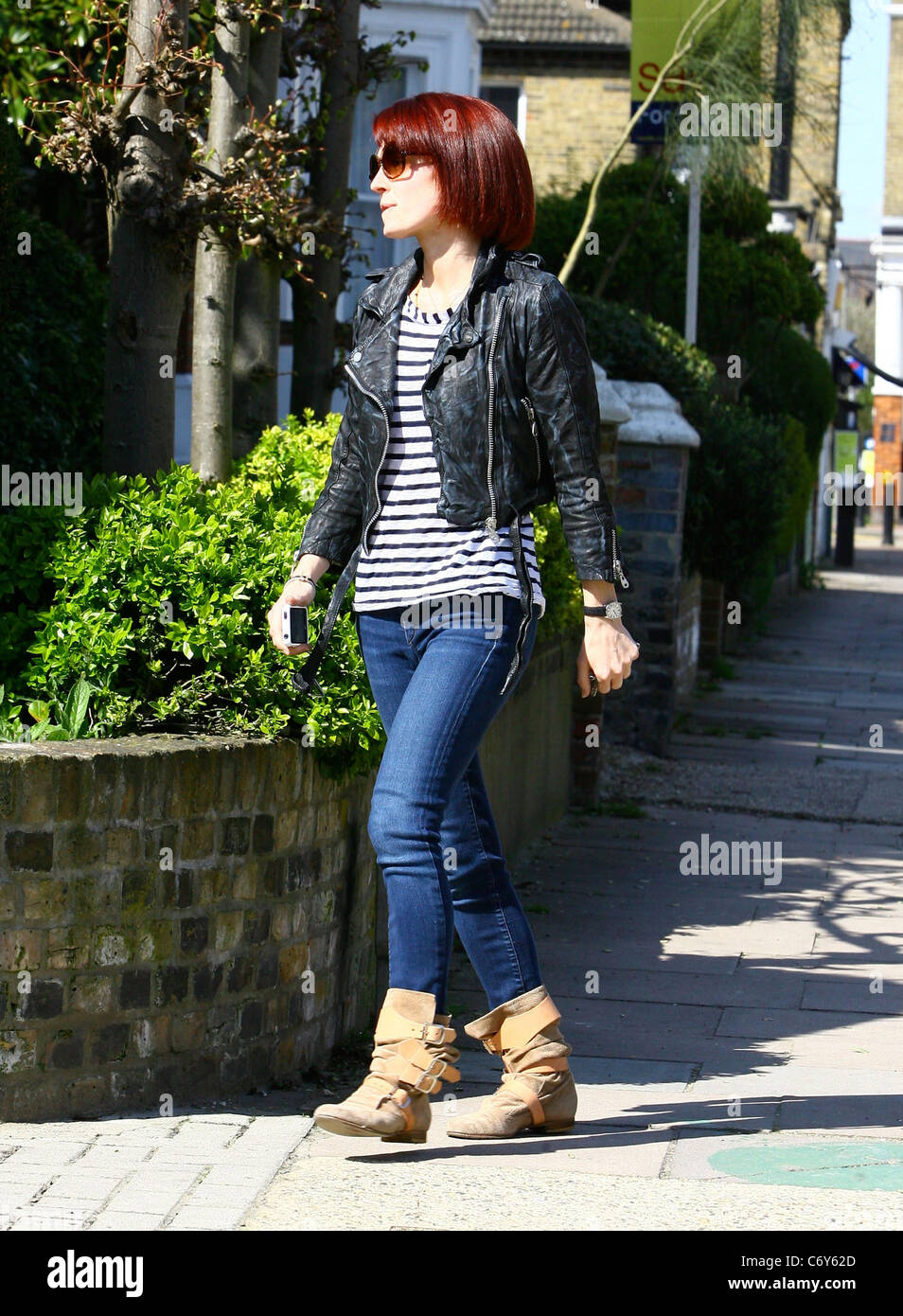Emma Ferguson, The Wife Of Mark Owen, Returns Home After Getting Her Hair  Done