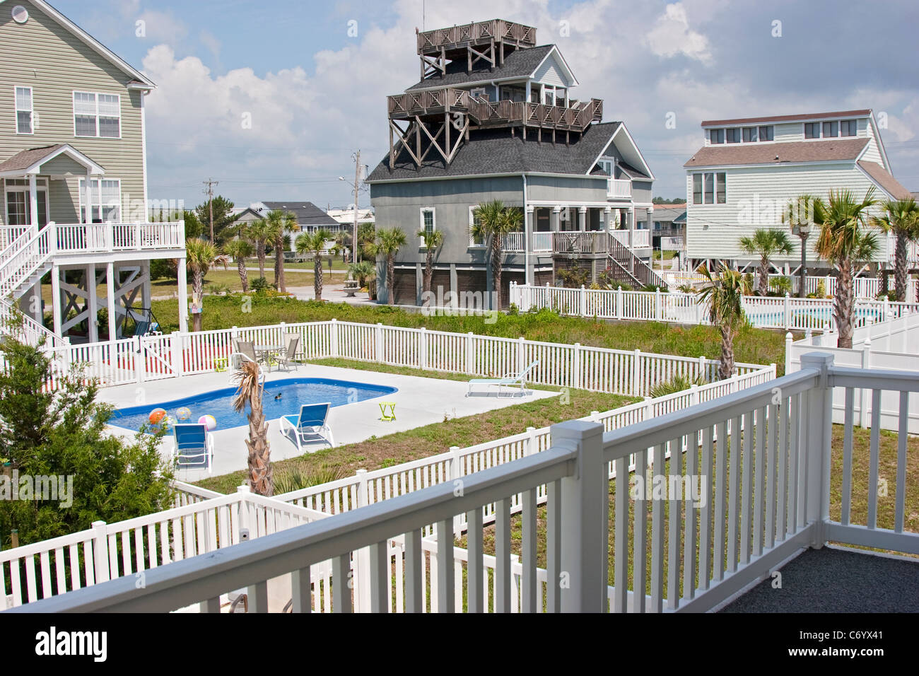 Beach Houses And Swimming Pool, Vacation Rentals, Myrtle Beach, South  Carolina, USA