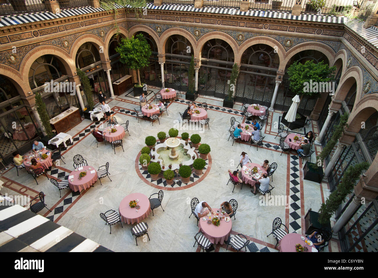 Courtyard hotel alfonso xiii seville spain stock photo - Hotel alfonso xii sevilla ...