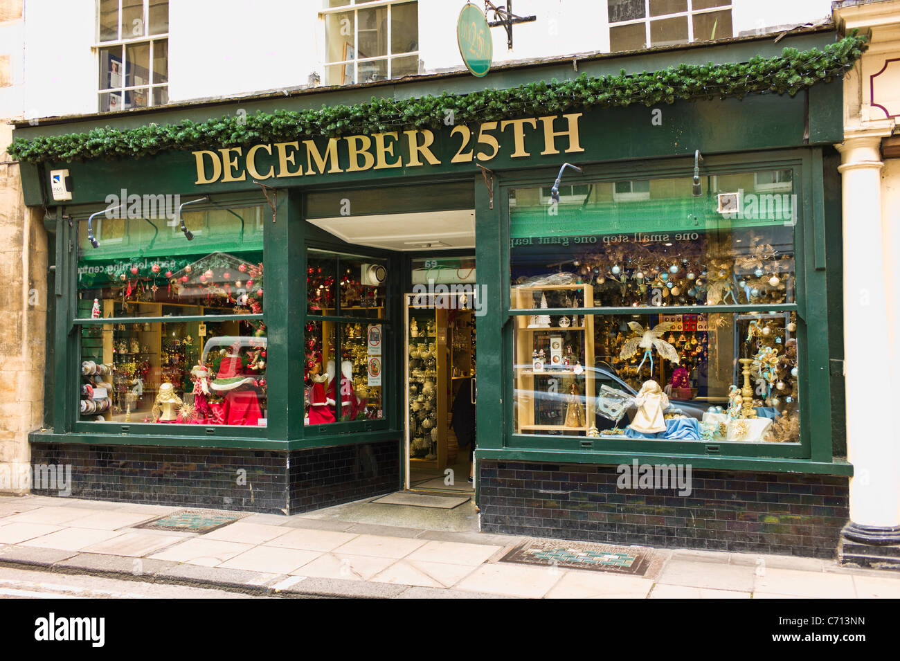 A Specialist Shop In Bath Devoted To Christmas Decorations And Associated  Goods