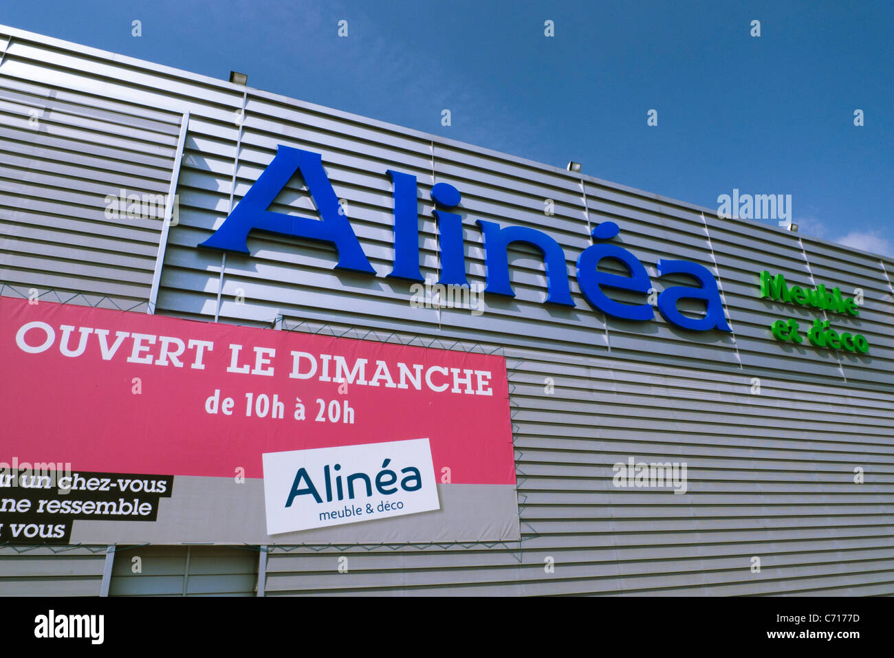 alinea french home decor store at herblay ile de france france stock photo royalty free image. Black Bedroom Furniture Sets. Home Design Ideas
