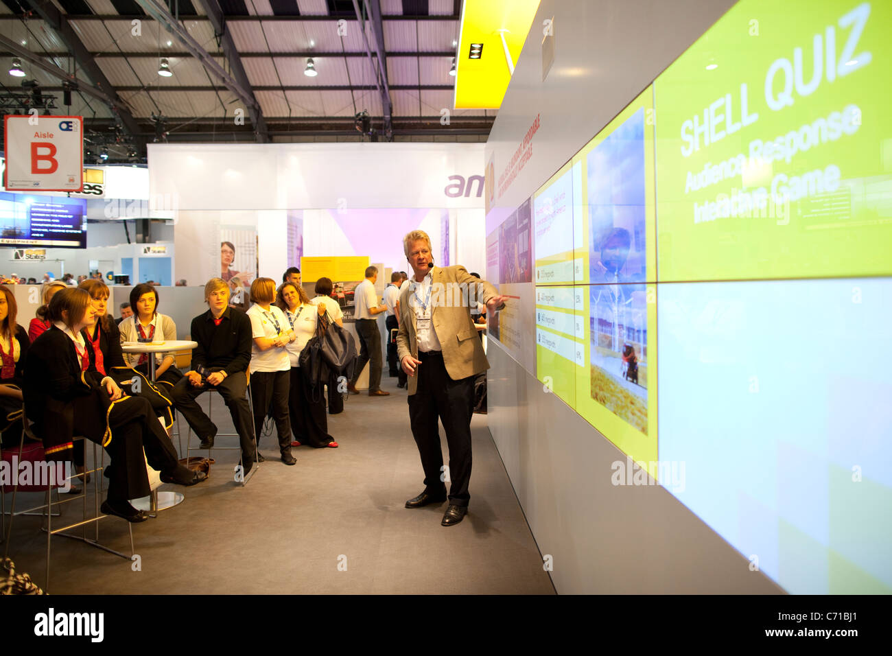 Shell Photography Exhibition : Shell stand at offshore europe oil and gas conference