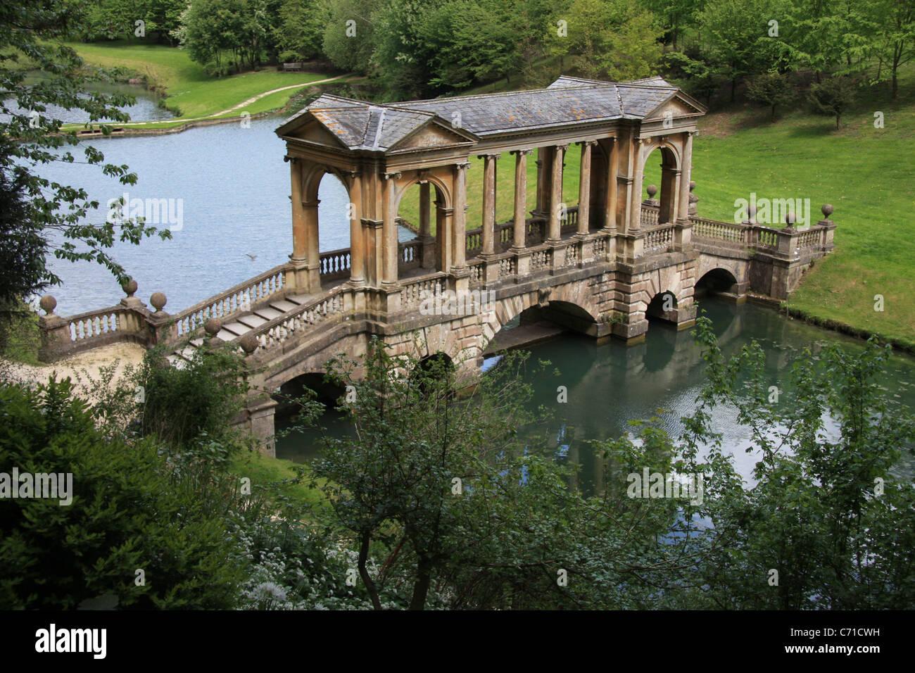 Attractive Palladian Bridge At Prior Park Bath Photo