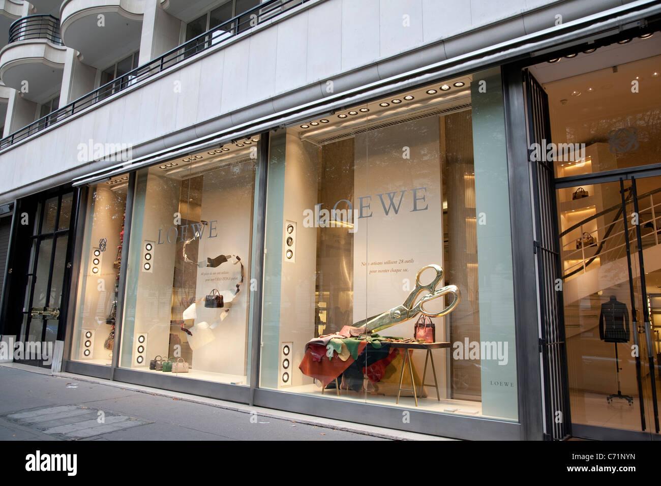 Loewe Shop in Avenue Montaigne, Paris, France Stock Photo, Royalty ...