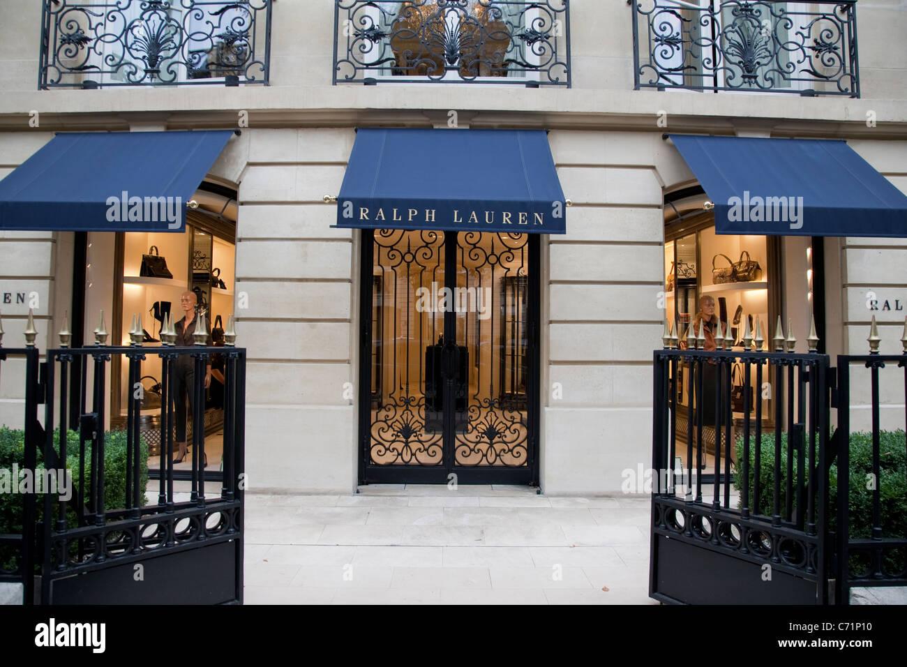 Ralph Lauren Shop on Avenue Montaigne, Paris Stock Photo, Royalty ...