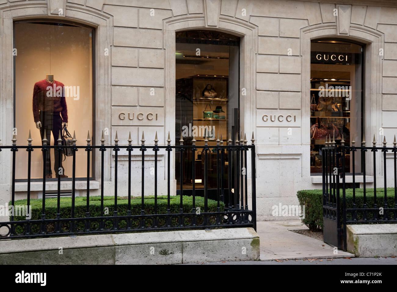 Gucci Shop on Avenue Montaigne, Paris, France Stock Photo, Royalty ...