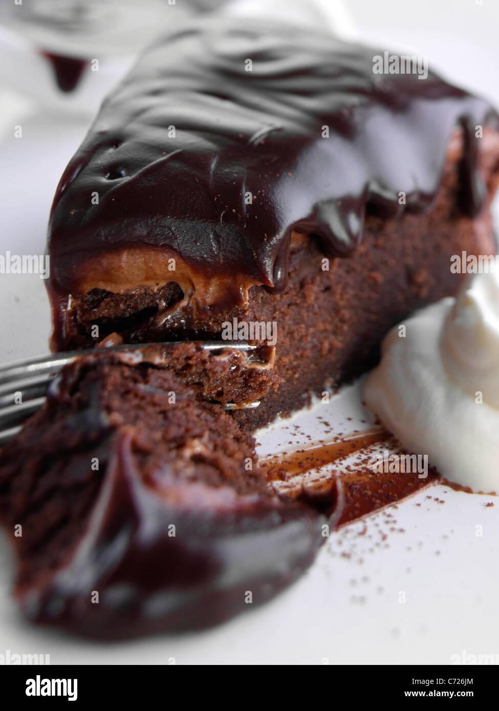 Chocolate Fudge Cake Stock Photos & Chocolate Fudge Cake Stock ...
