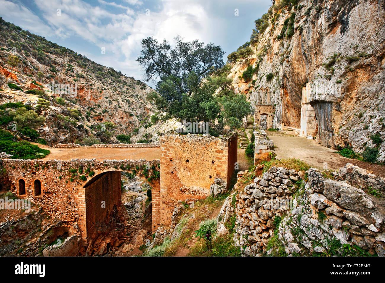 The abandoned Katholiko monastery in the heart of Avlaki ...