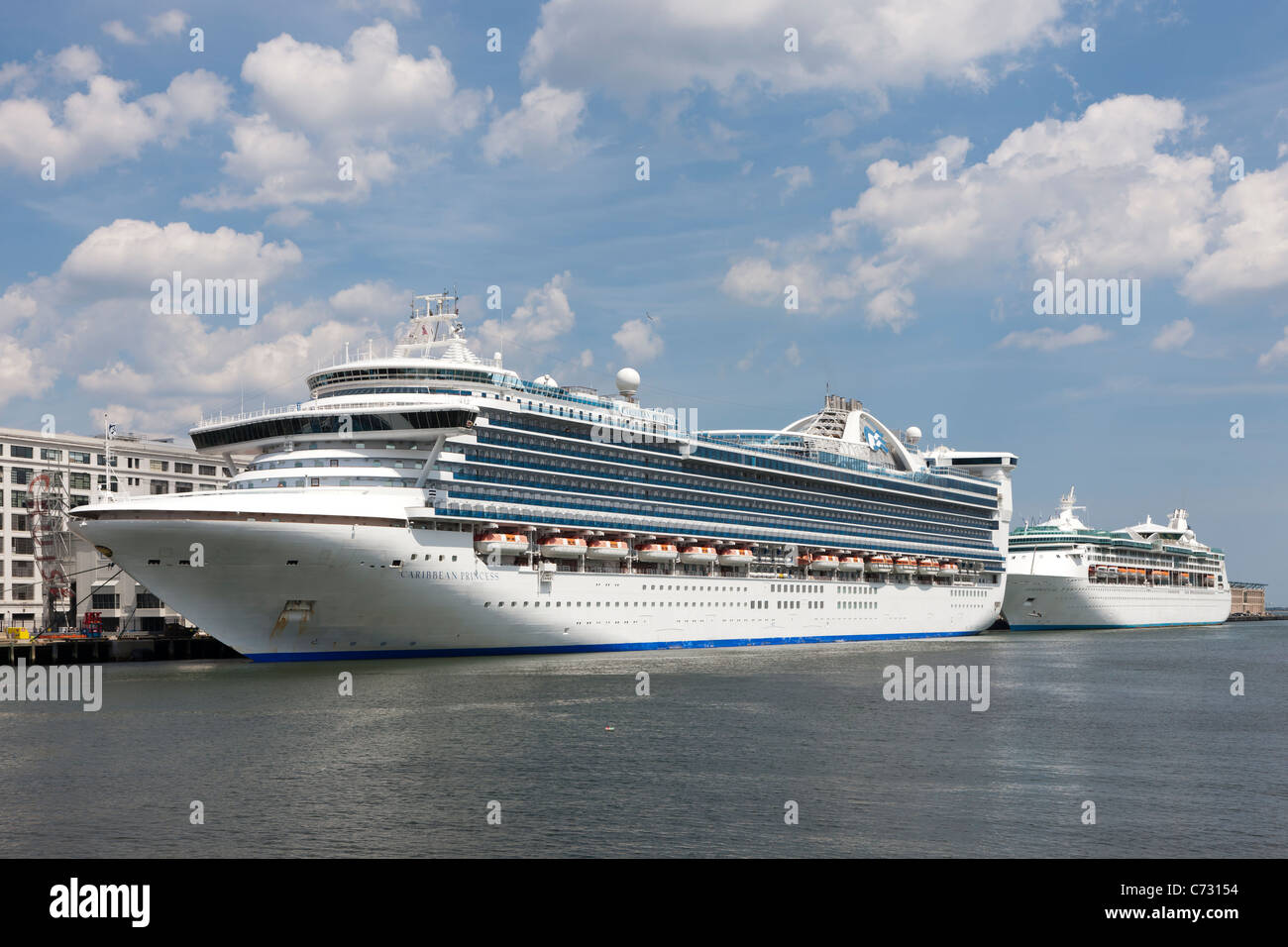Cruise Ships Docked At The Black Falcon Cruise Port Boston Stock - Cruise ships out of boston