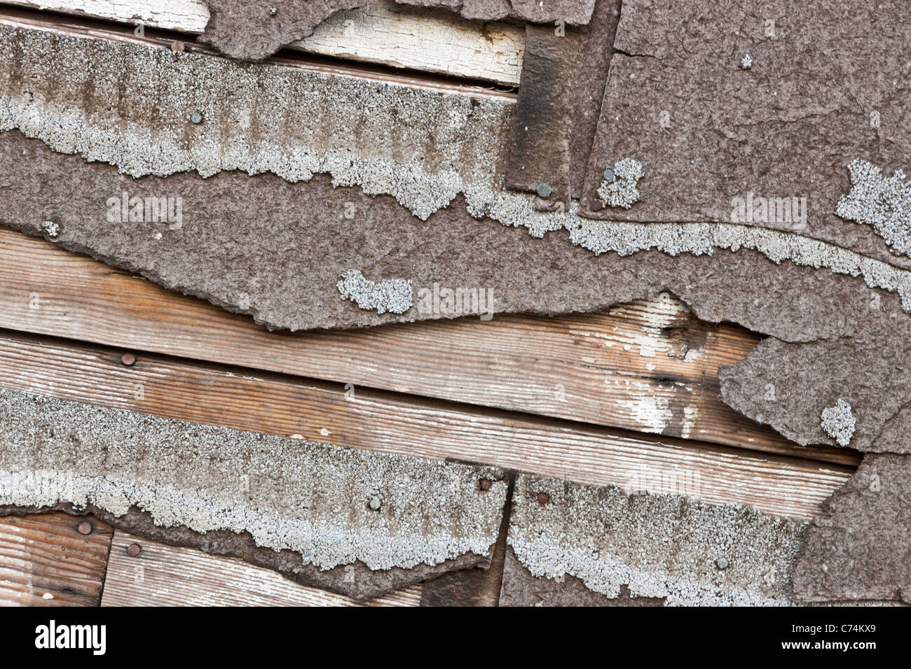 Asbestos Composition Asphalt Shingles Deteriorating Stock Photo Royalty Free Image 38826769