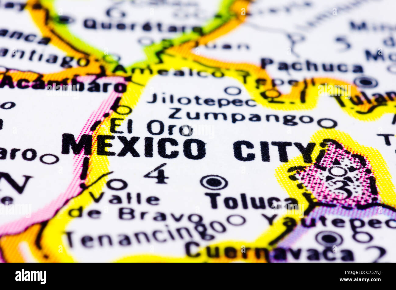 A Close Up Of Mexico City On Map Capital Of Mexico Photo – Mexico City on Map