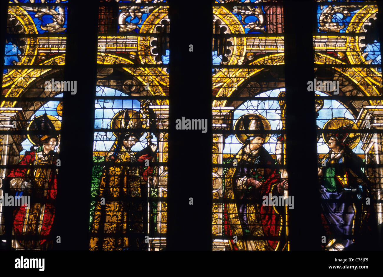 Renaissance Stained Glass Windows Of Valentin Bousch Cathedral St Etienne Metz Moselle Lorraine France