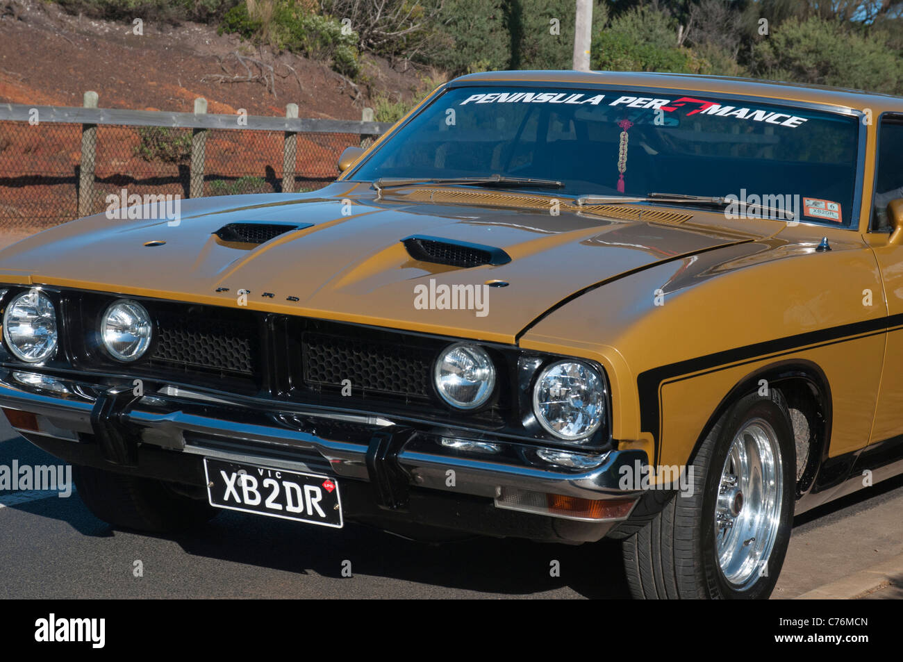 Ford Falcon Fairmont Xb Sedan Victoria Australia Stock