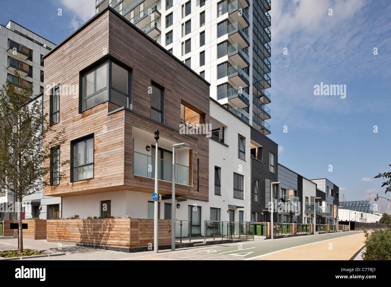 City Peninsula Apartments In Greenwich London Stock Photo