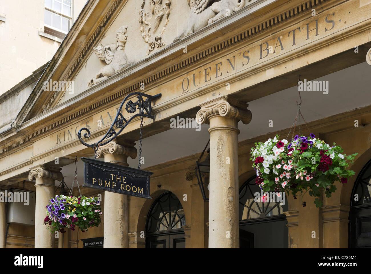 Entrance to the Pump Room and Roman Baths on Stall Street, Bath ...