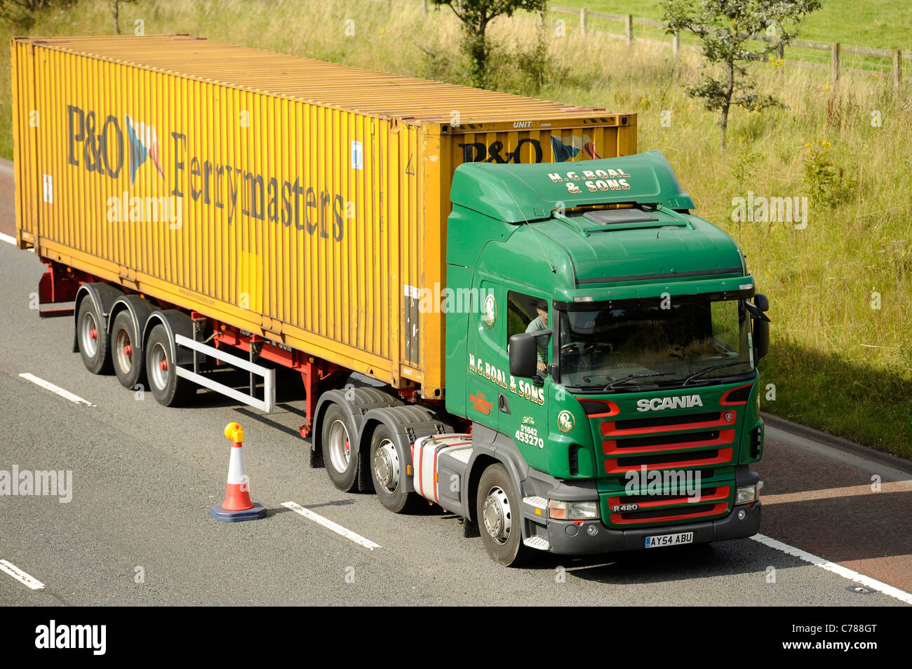 P And O Ferrymasters 45 Foot Shipping Container And Scania